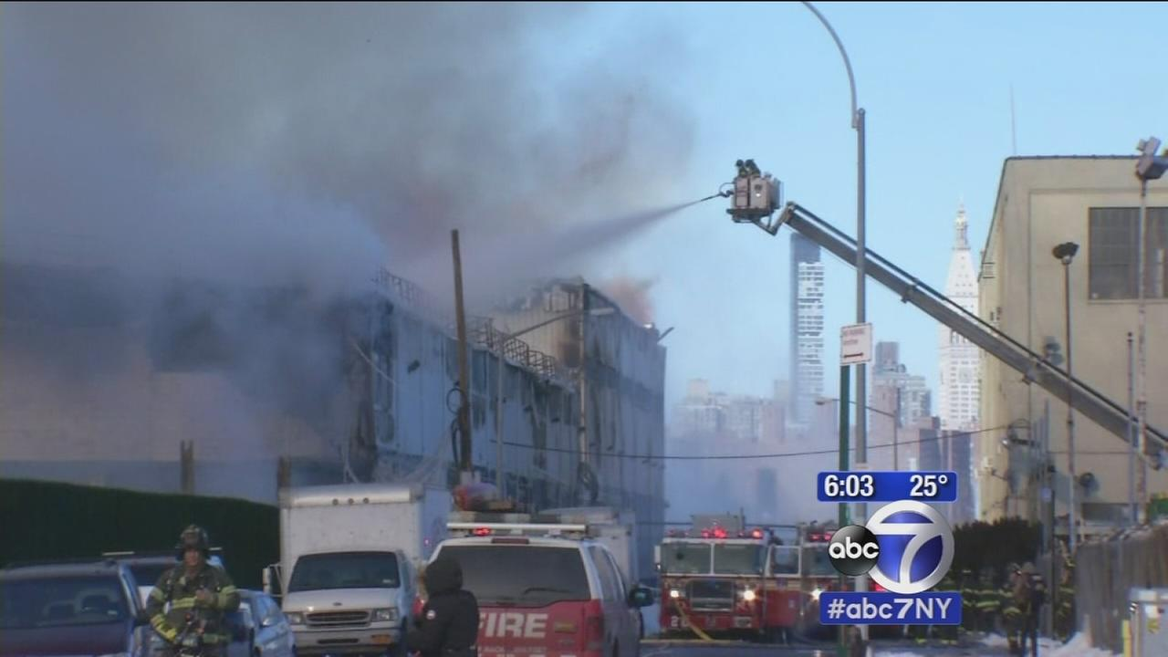 Massive fire tears through Williamsburg storage facility
