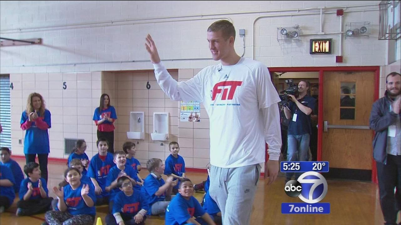 NBA stars share All-Star fitness tips with students