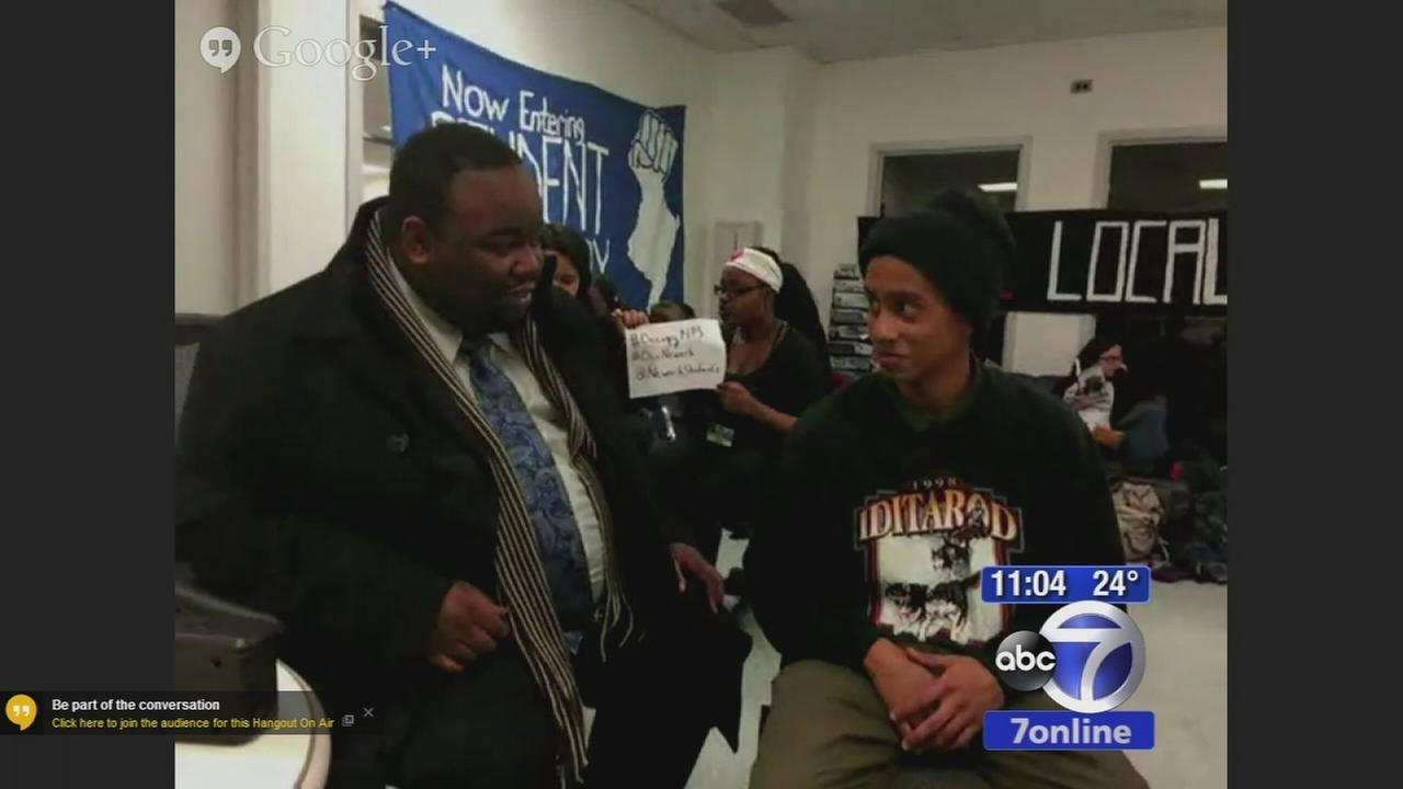 Students stage sit-in inside Newark superintendents office