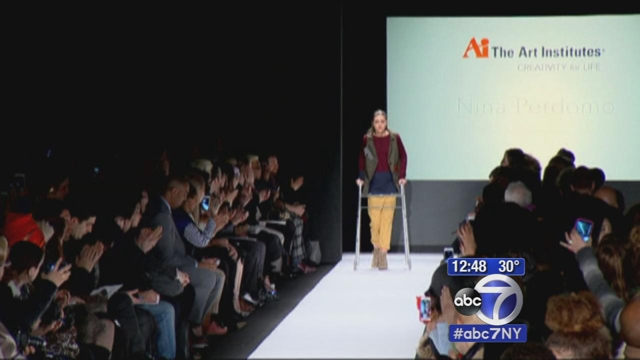 Paralyzed teen model given the opportunity to walk at Fashion Week