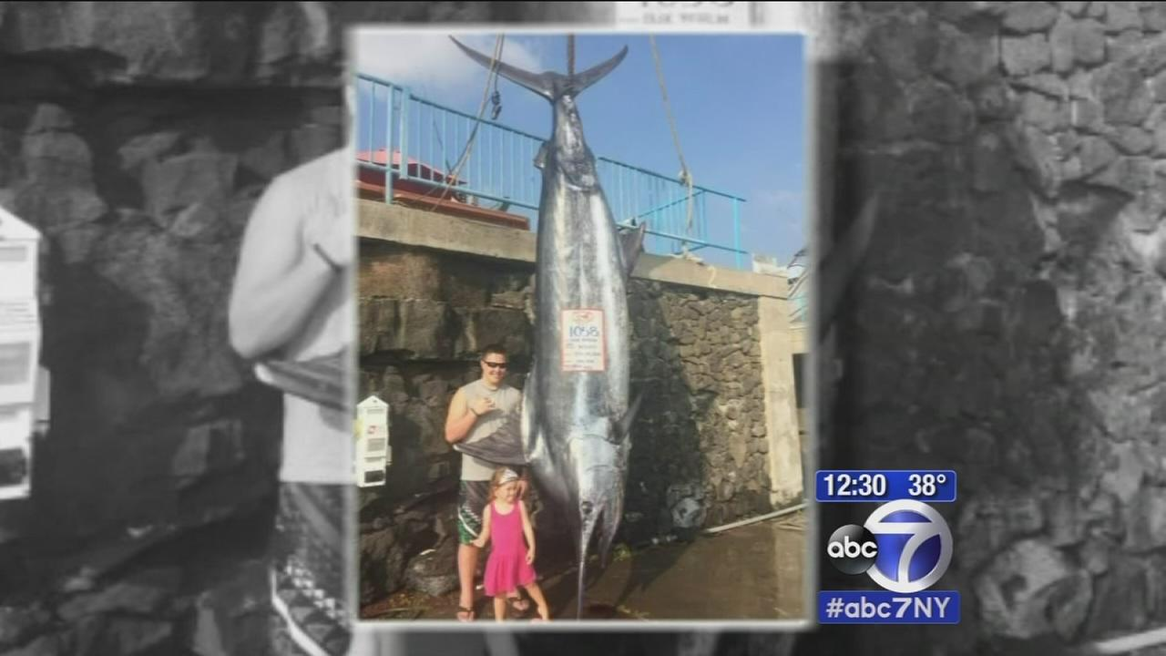 Teen from Brooklyn catches marlin weighing in at over 1,000 pounds