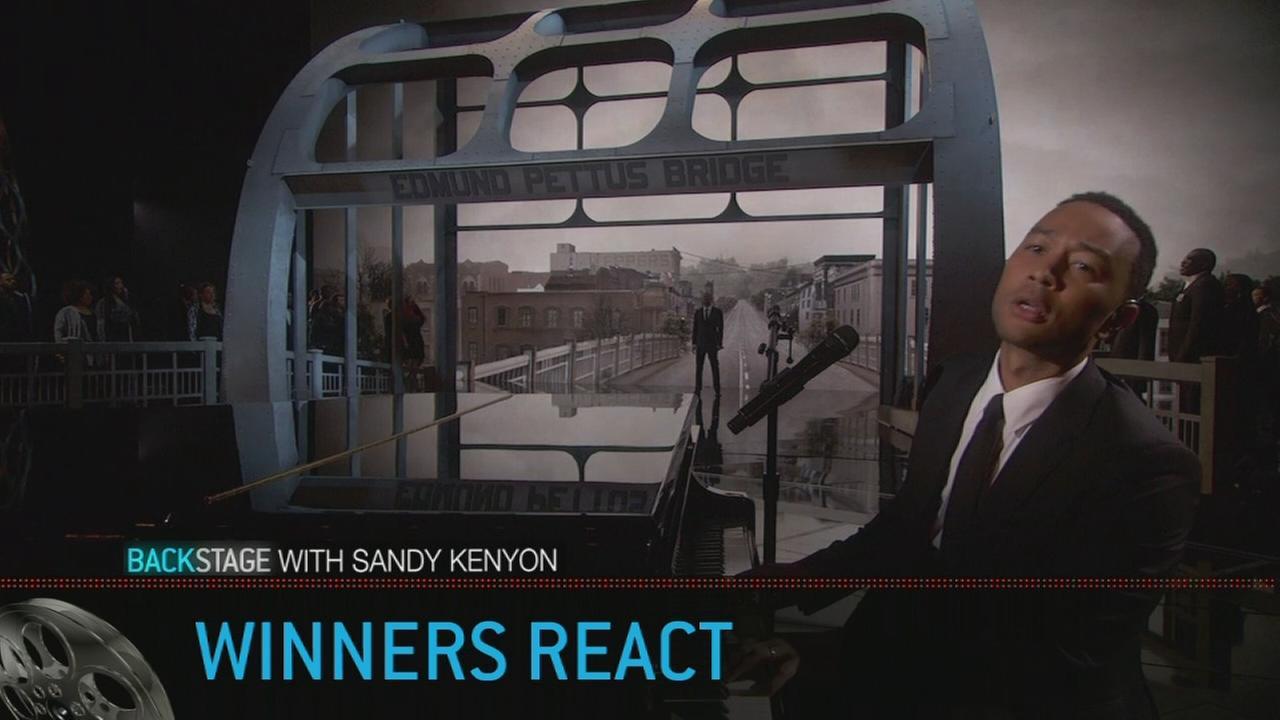 Backstage with Sandy Kenyon: Oscar winners react