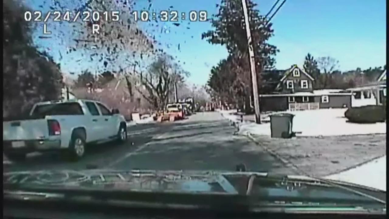 Dashcam video of house explosion in Stafford Township