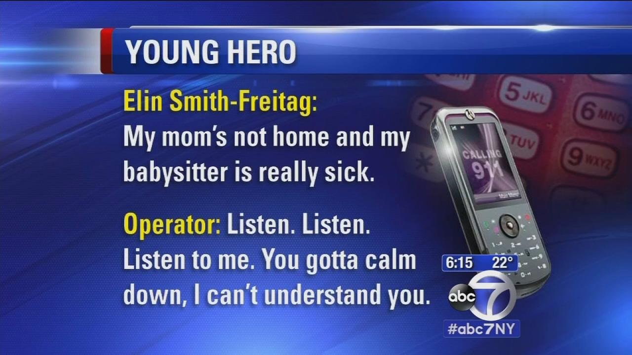 Girl saves babysitter by staying cool on 911 call