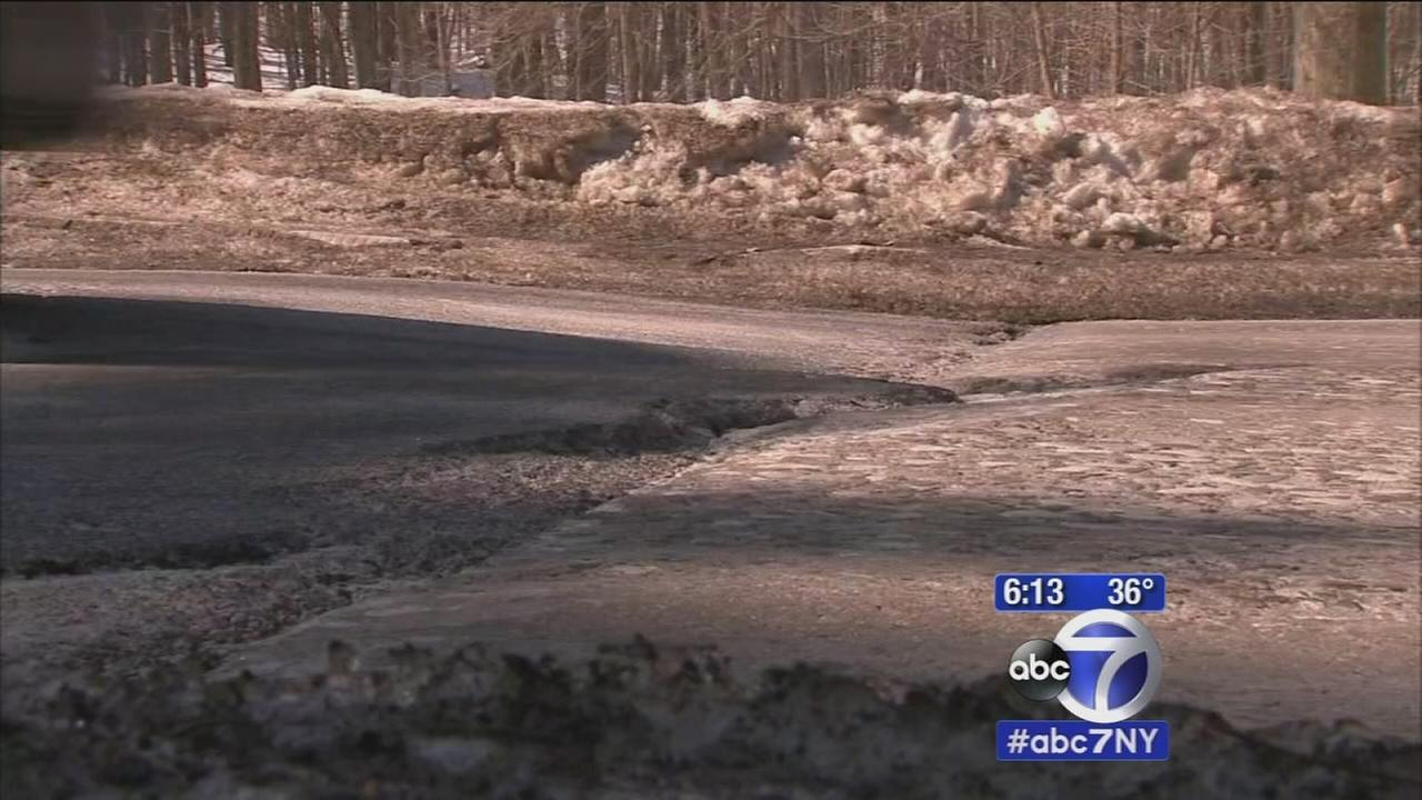 Pothole problems on Palisades Parkway
