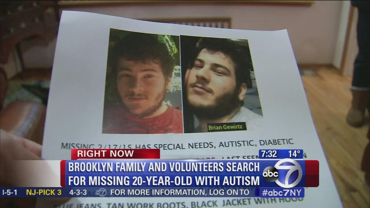 Family members hand out flyers in search for man with autism