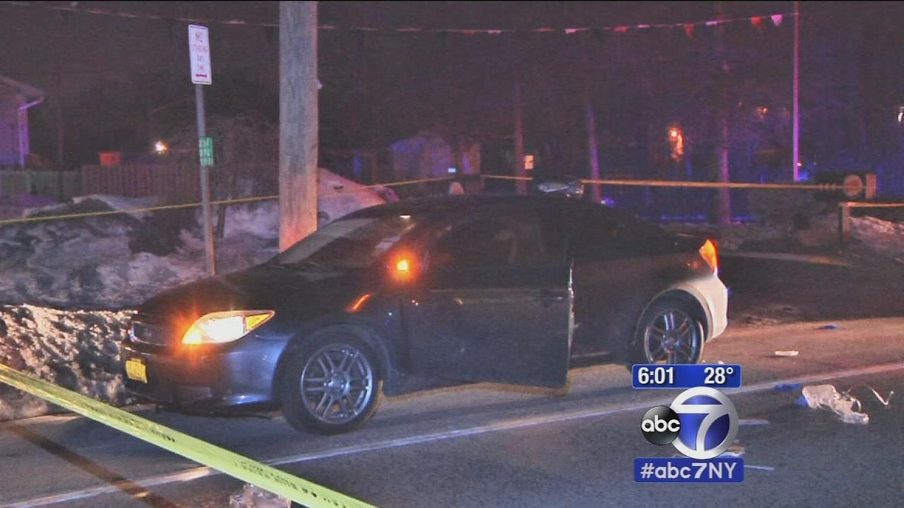Woman shot while sitting in car in North Babylon