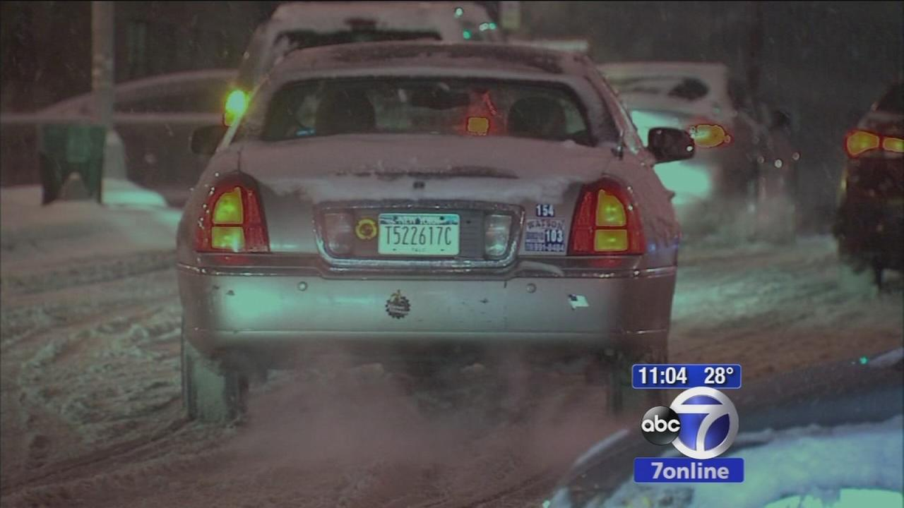 Snow creating treacherous driving conditions throughout area