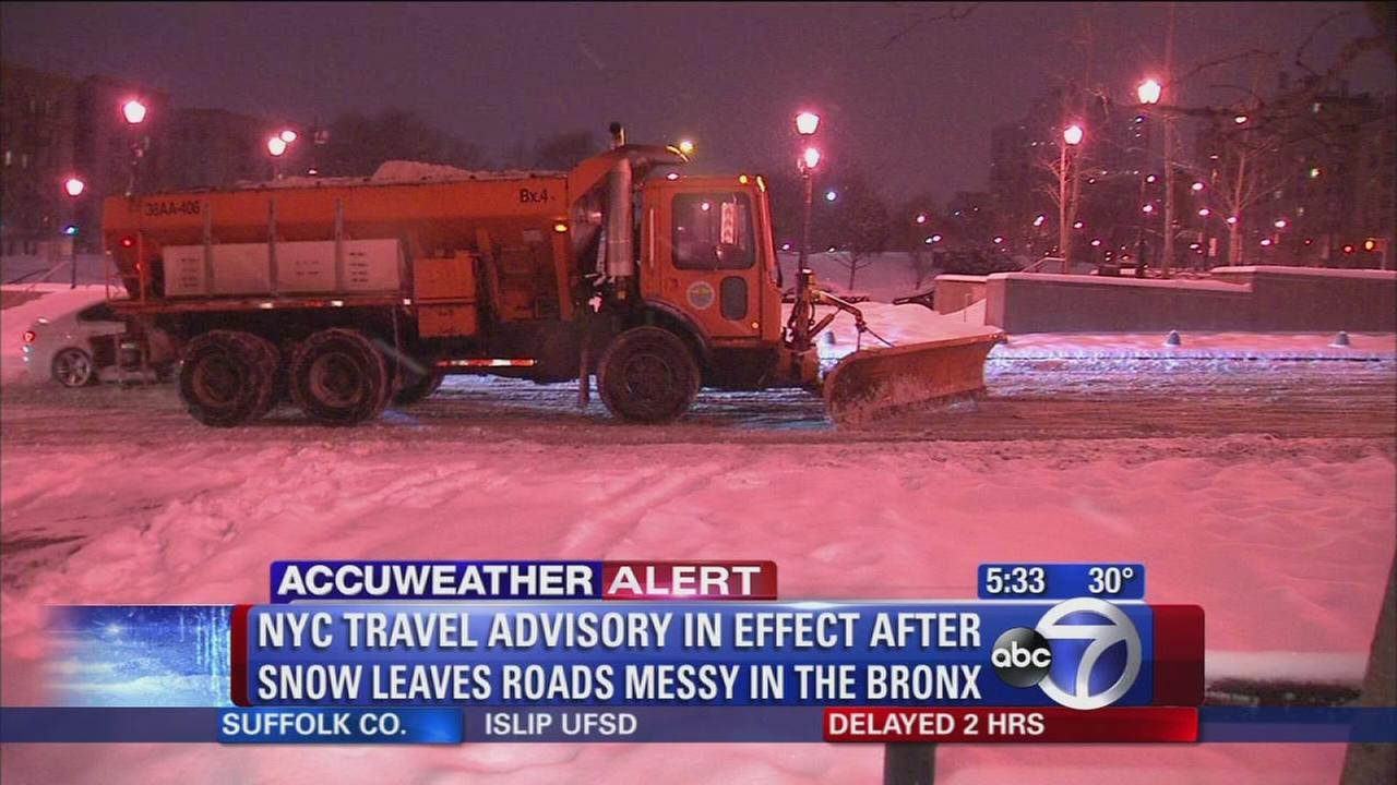 NYC travel advisory in effect after storm