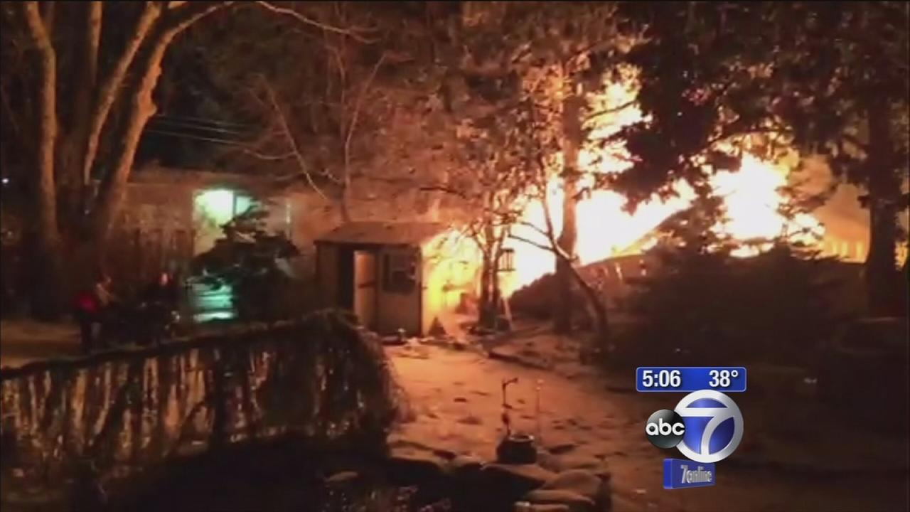 NJ home leveled by apparent gas explosion