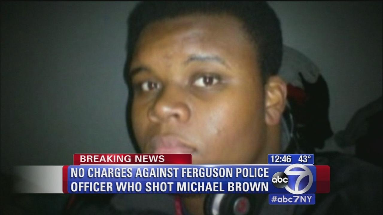 No charges against officer who shot Michael Brown