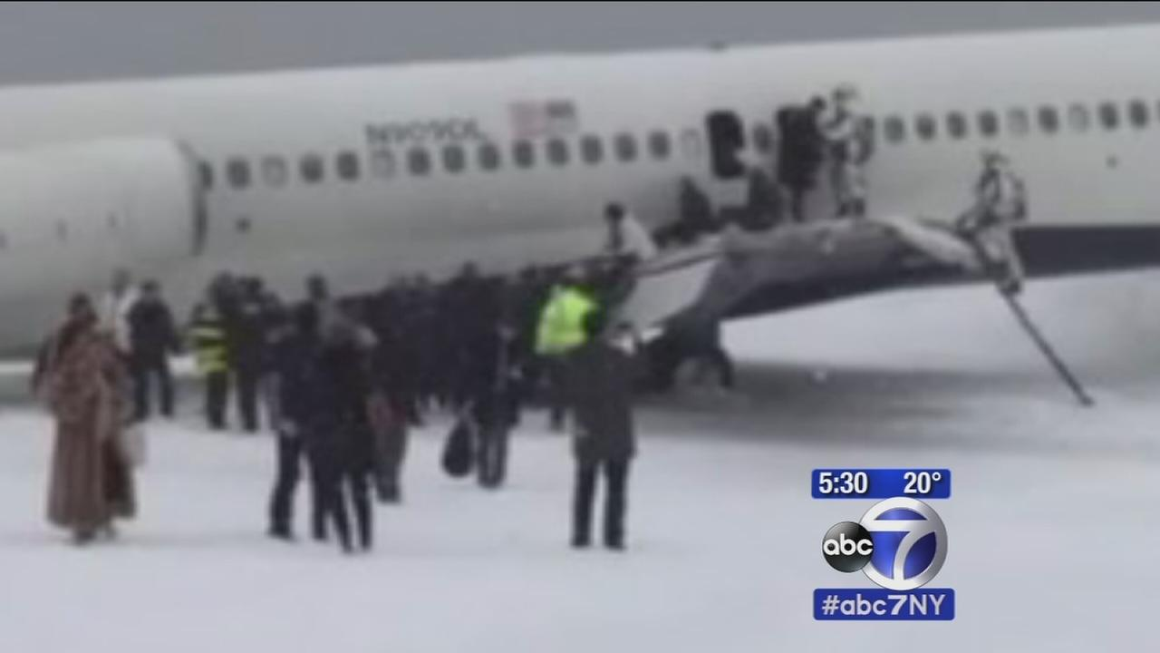 Investigation begins after plane skids off runway