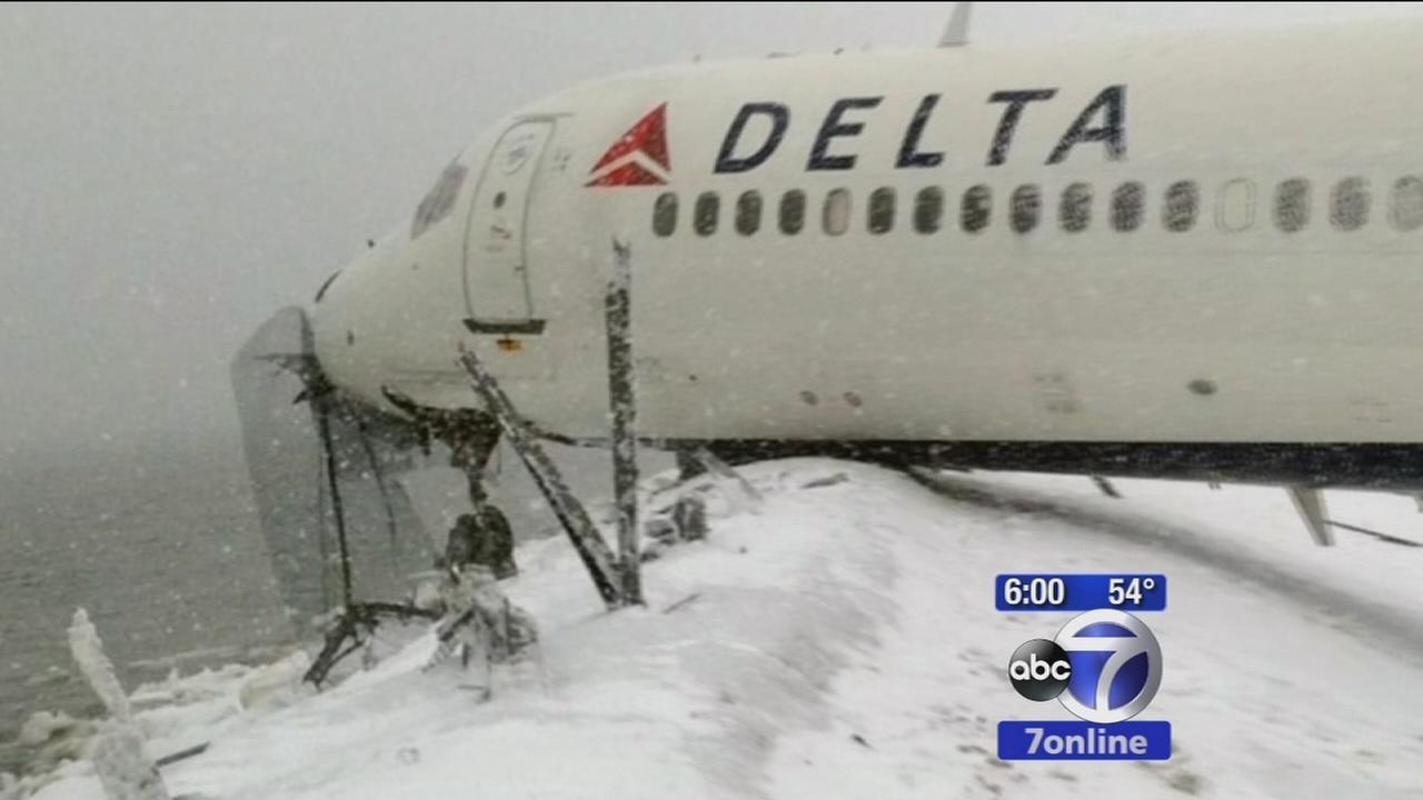 Investigators say Delta plane was having braking problems