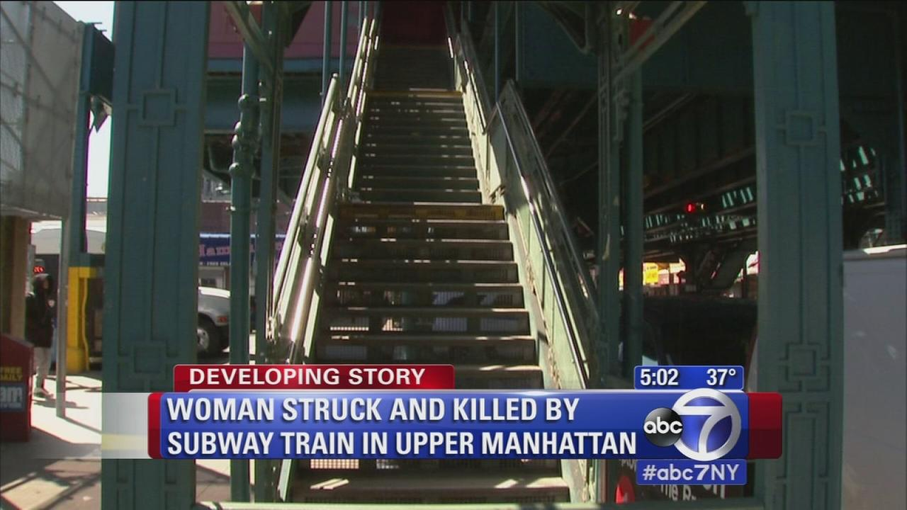 Woman struck and killed by subway train