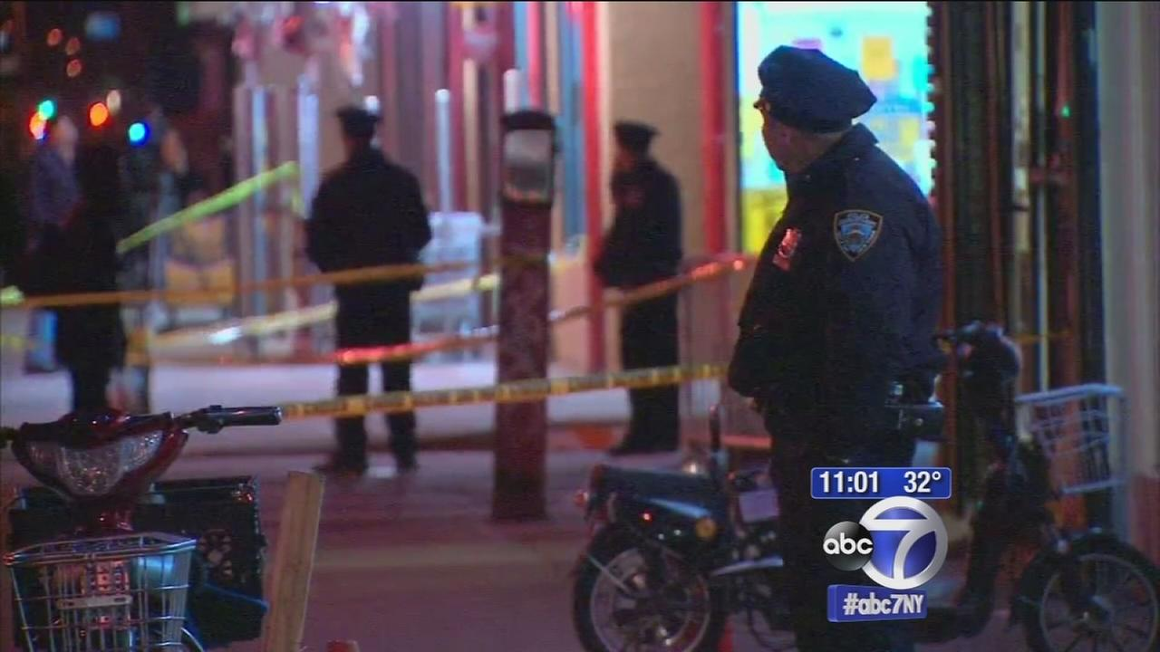 2 men shot in the street in Brooklyn