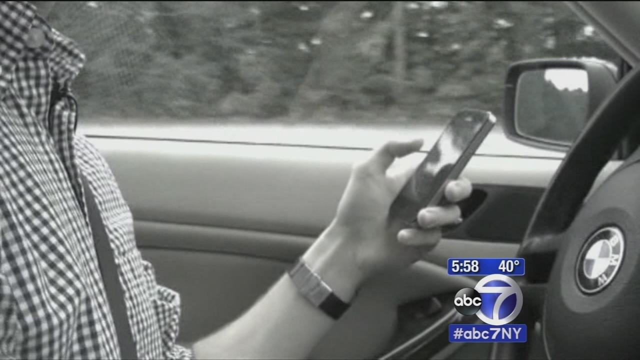 DashCams capture teens swerving off road while texting in powerful PSA