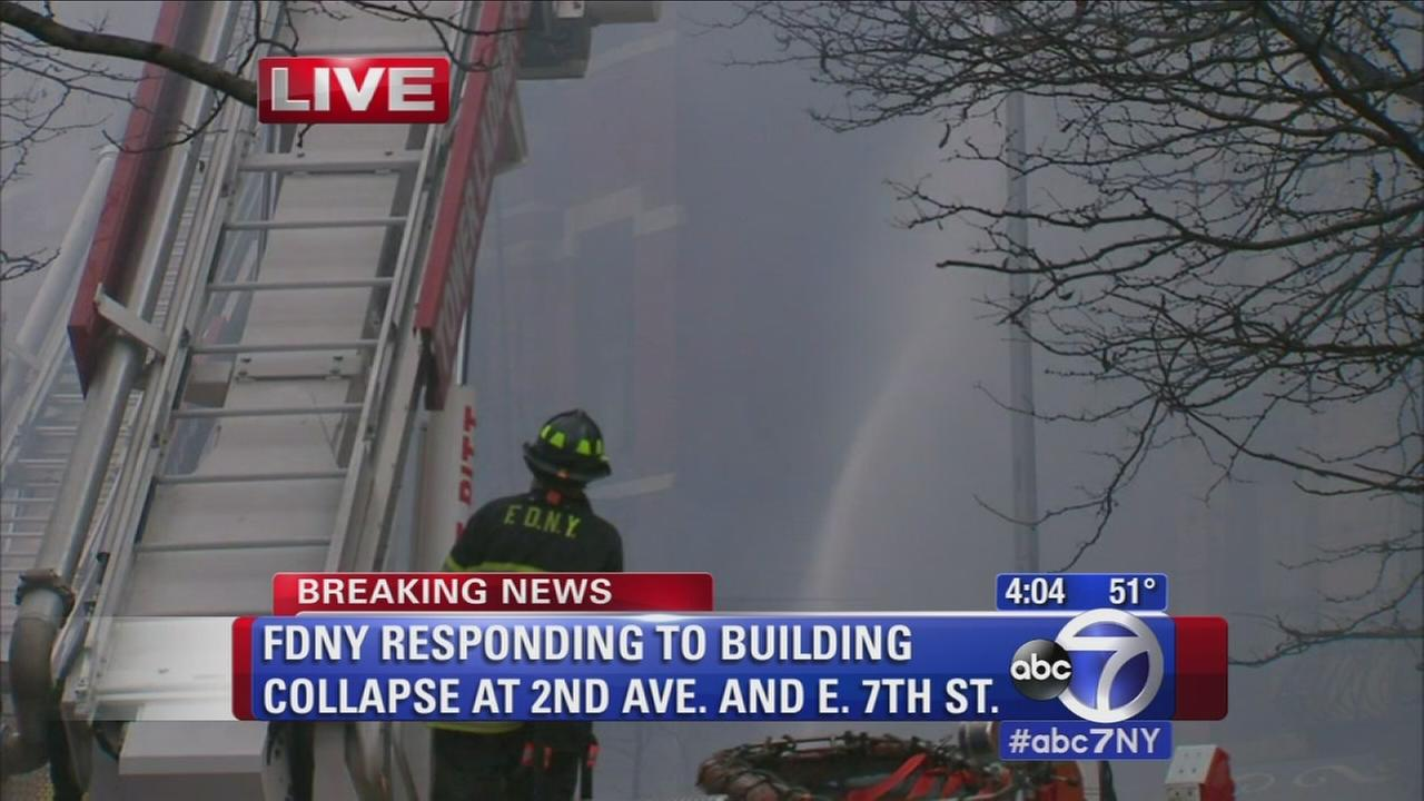Witness describes building collapse