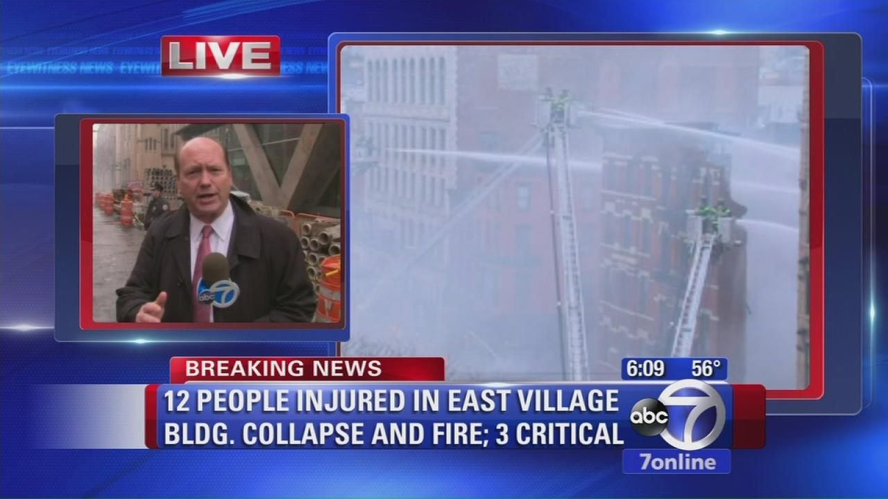 East Village neighborhood rocked by explosion, fire