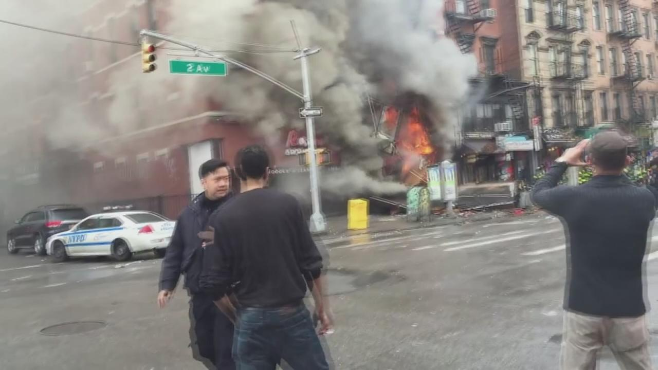 RAW VIDEO: East Village explosion