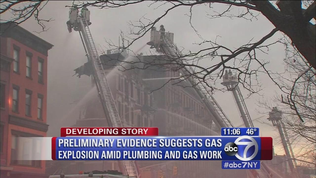 Evidence points to gas leak as cause of explosion