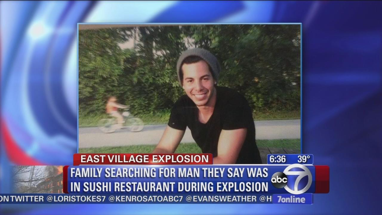 Family looking for man possibly missing after East Village explosion
