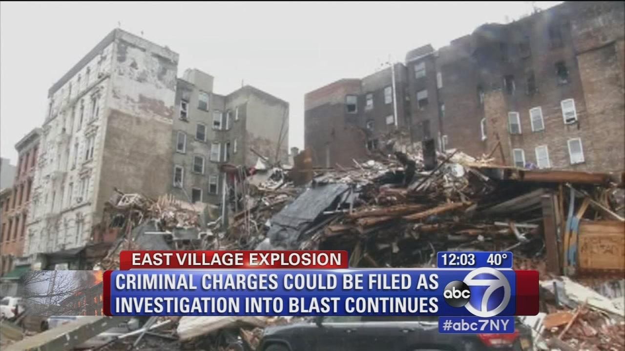 Crews digging through rubble at East Village blast site