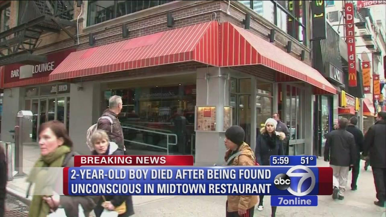 2-year-old boy dead after being found unconscious in Midtown restaurant