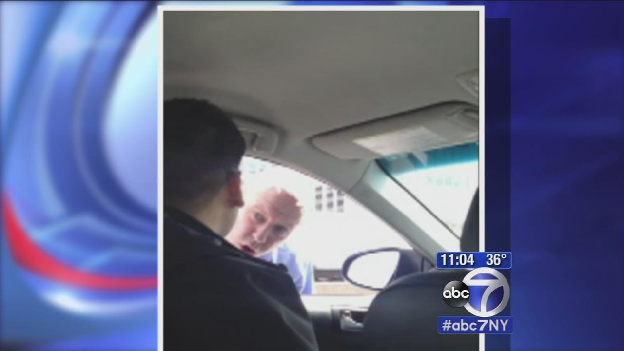 Apparent road rage rant by NYPD detective with Uber driver caught on camera