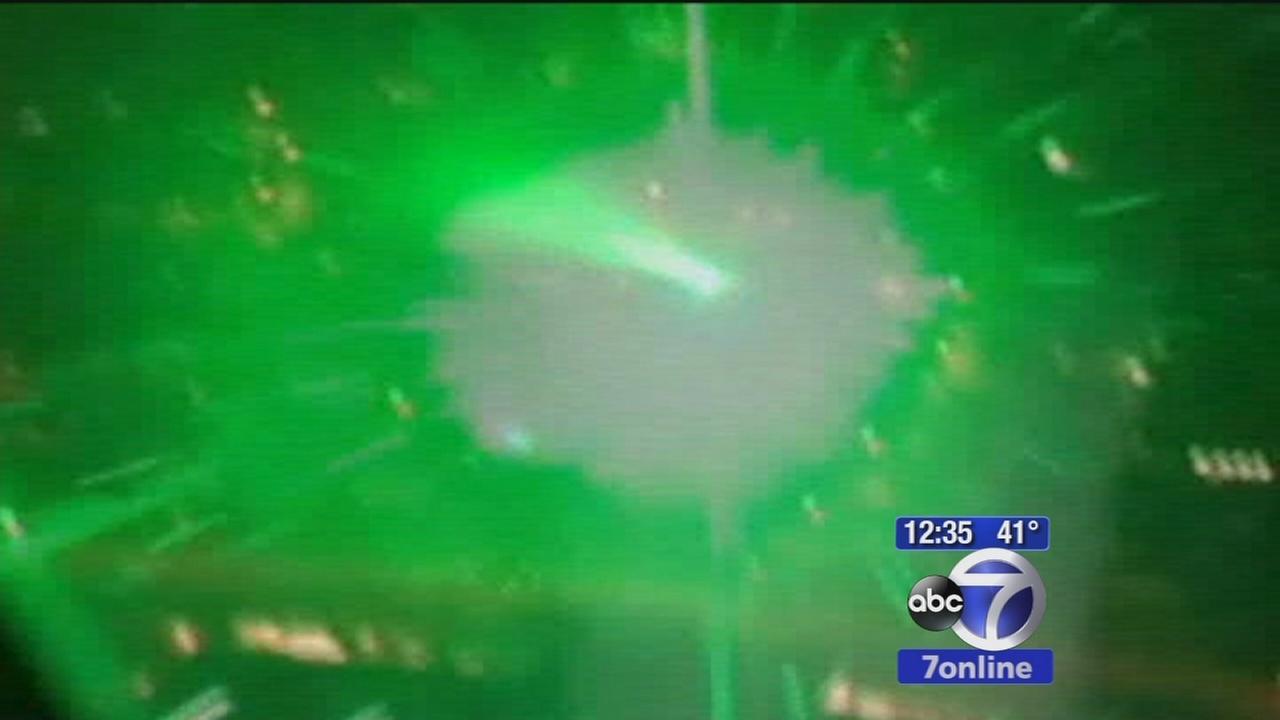 Laser incidents at Newark