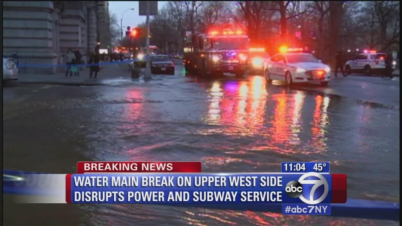 Water main break on Upper West Side
