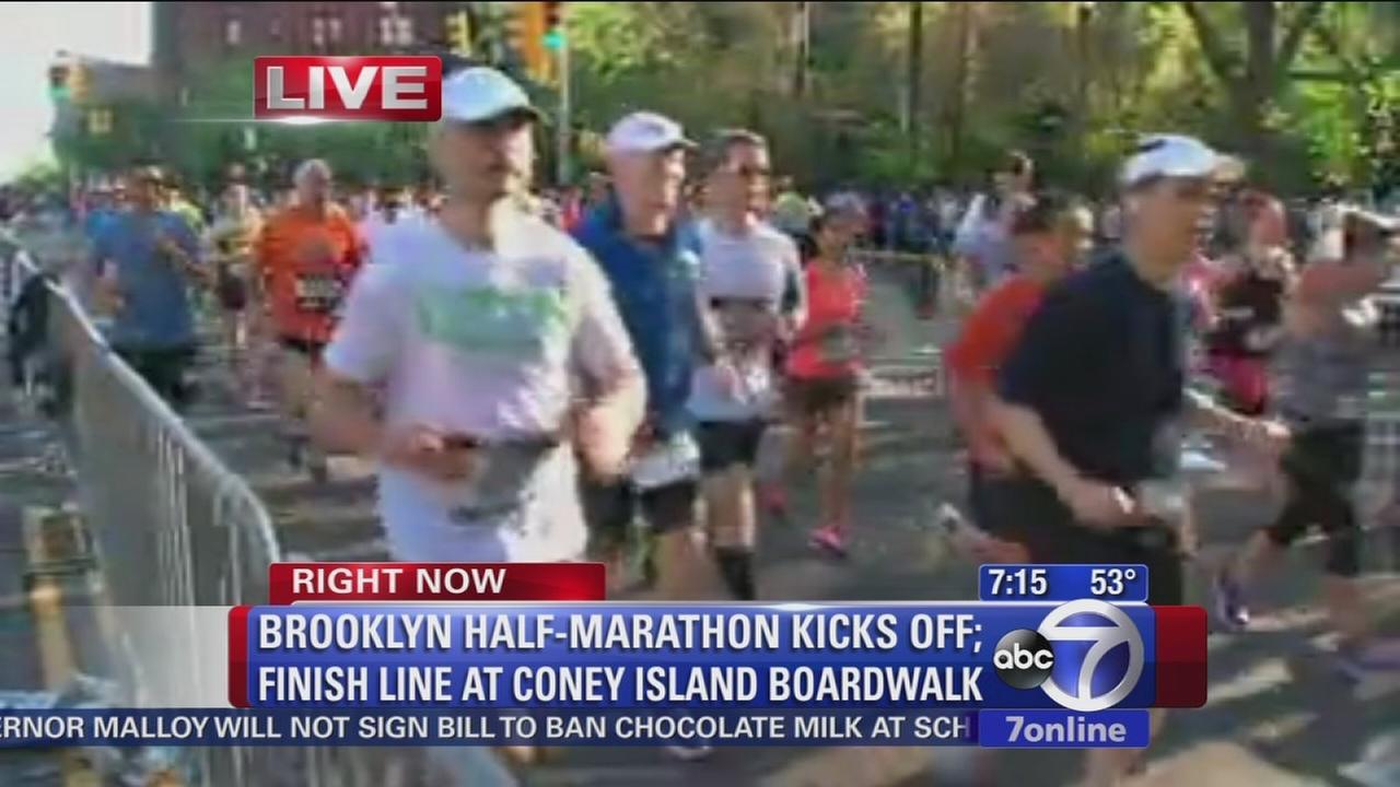 Runners hit the streets for Brooklyn Half-Marathon