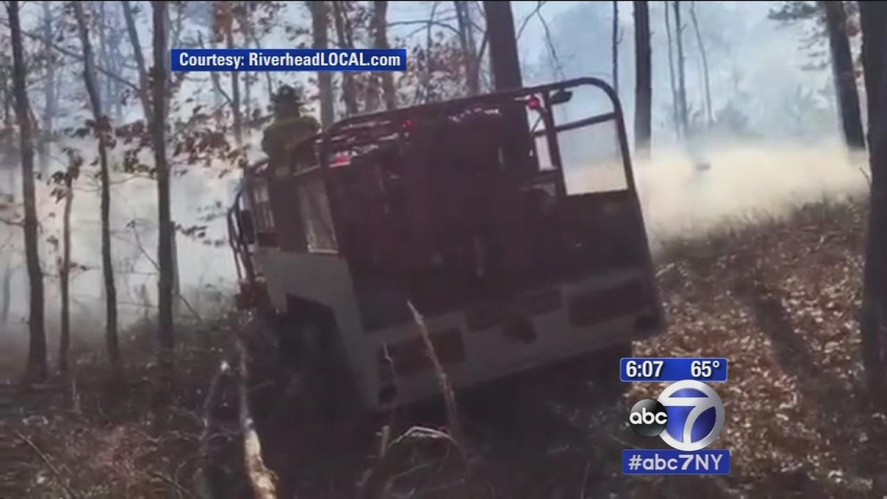 Flanders fire company says downed trees need to be cleared