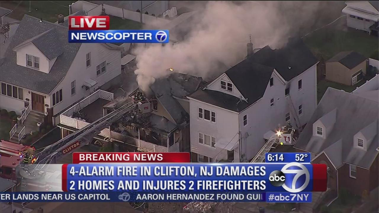 Clifton, N.J., fire claims 2 homes