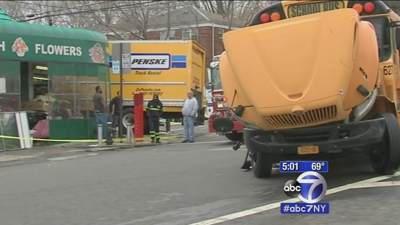 31 injured after truck and school bus collide