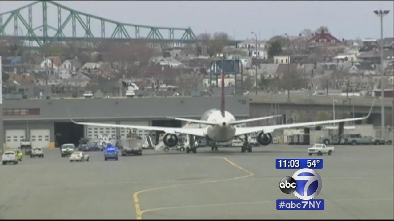 Turbulent flight from Paris to Newark makes emergency landing in Boston