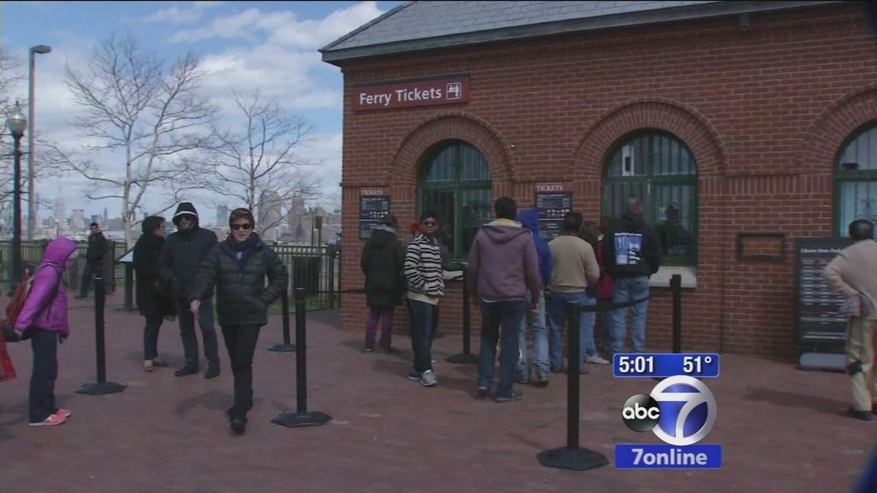 Tourists react to Statue of Liberty evacuation