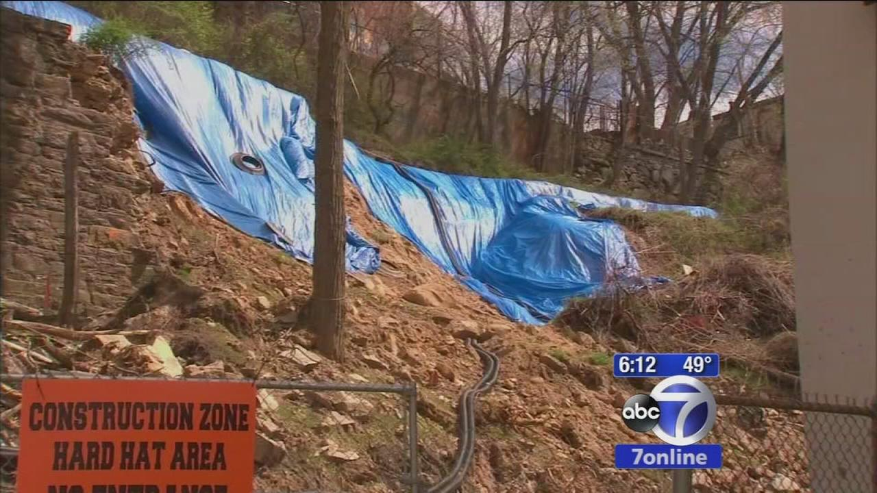 Seniors cannot return home after mudslide