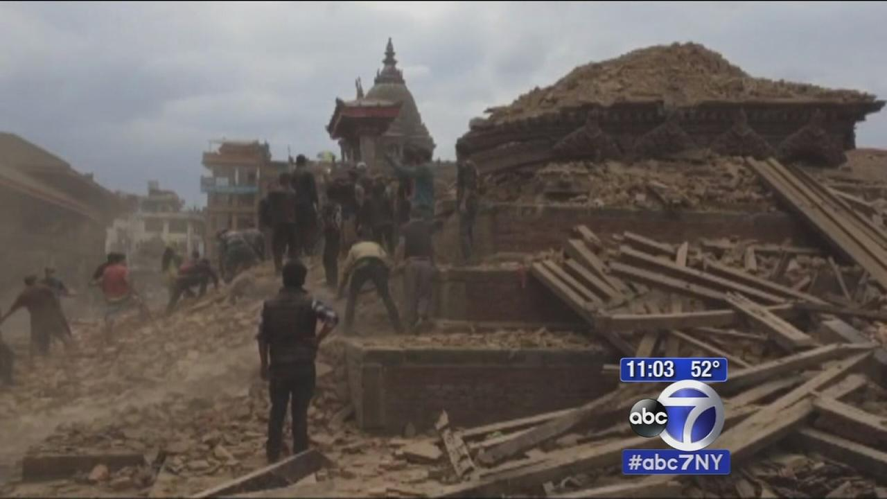 Local family on edge after massive earthquake strikes Nepal