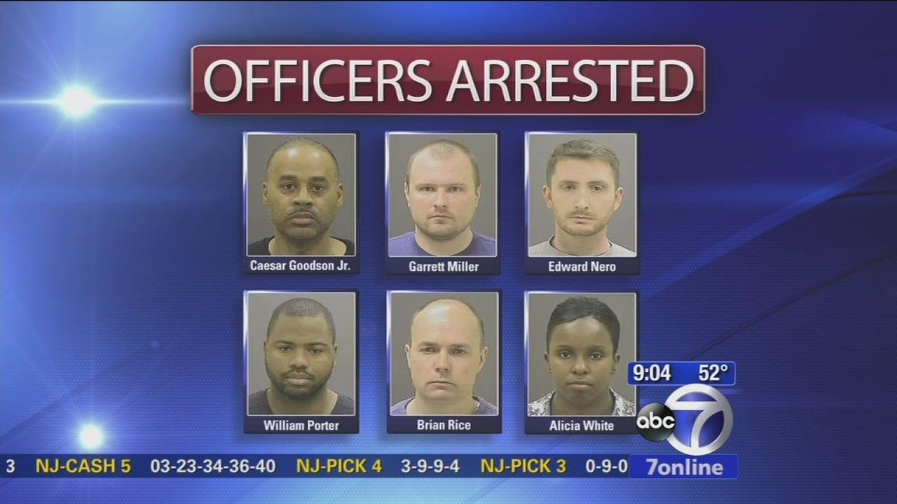 6 officers arrested in Baltimore