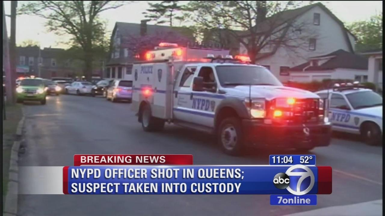 NYPD officer shot in Queens