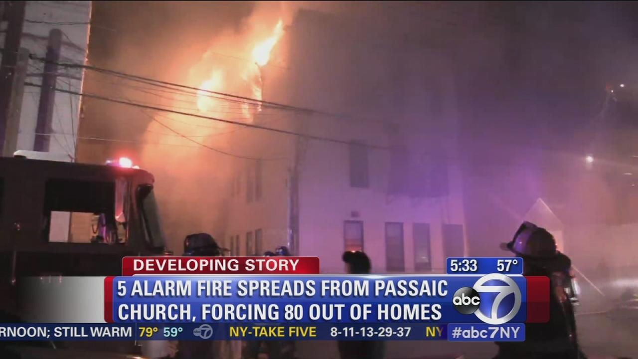 Dozens homeless after Passaic