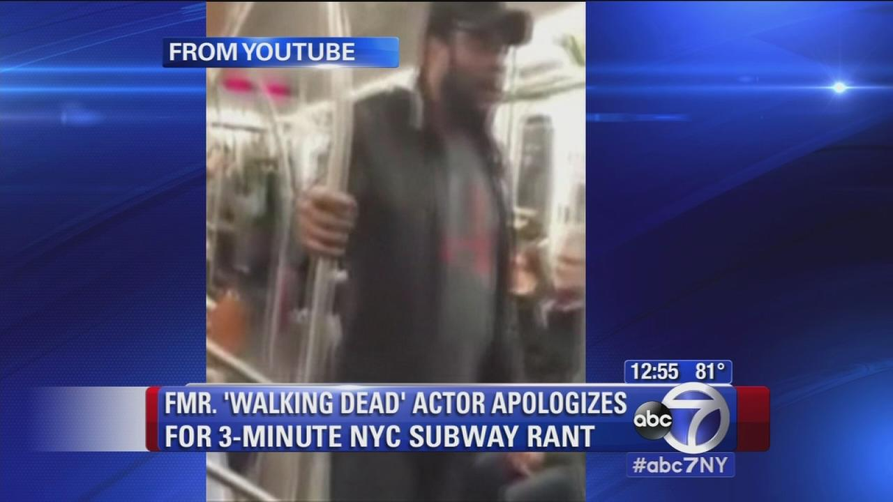 Actor aplogizes for subway rant