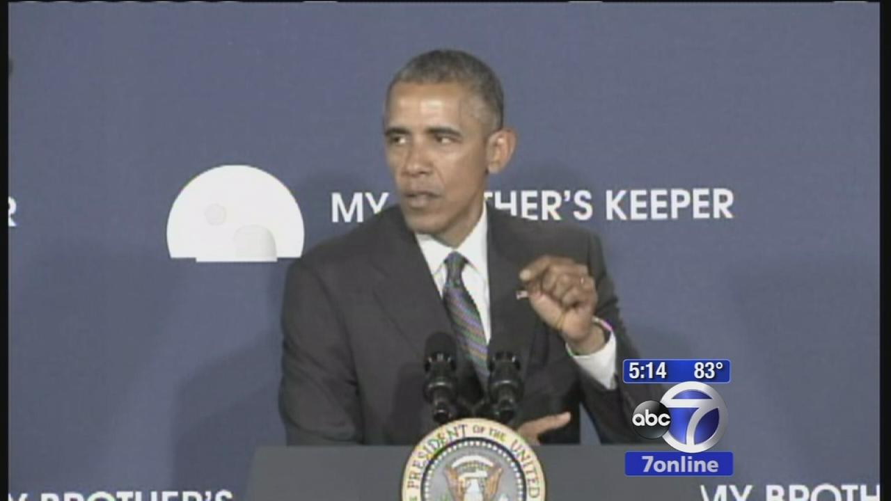 President Obama visits the Bronx at launch of My Brothers Keeper