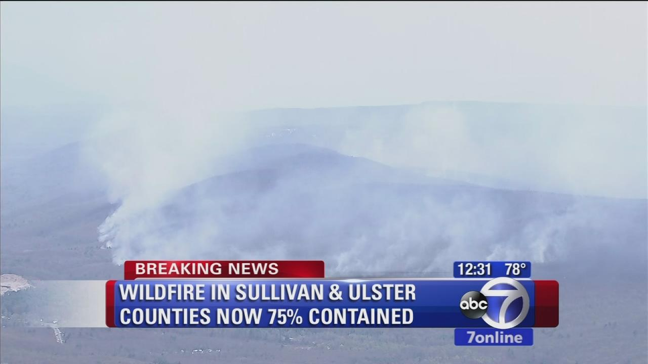 Ulster, Sullivan forest fire being contained