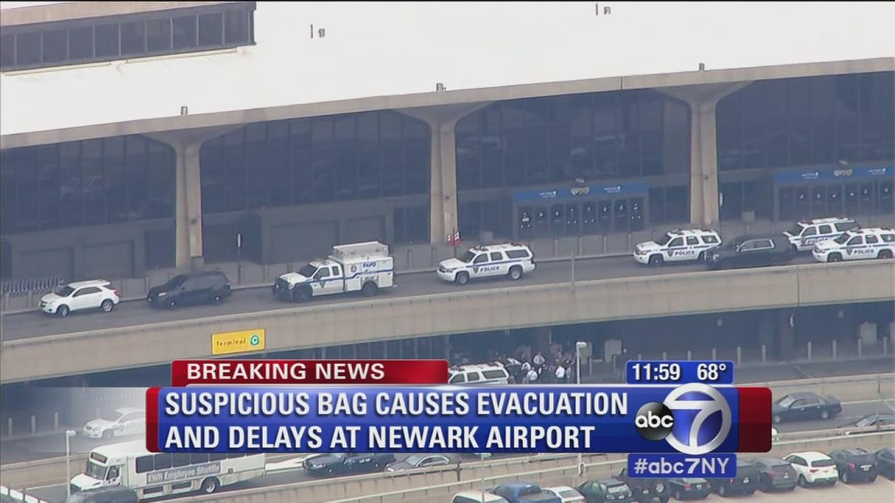 All clear given after suspicious package scare at Newark airport