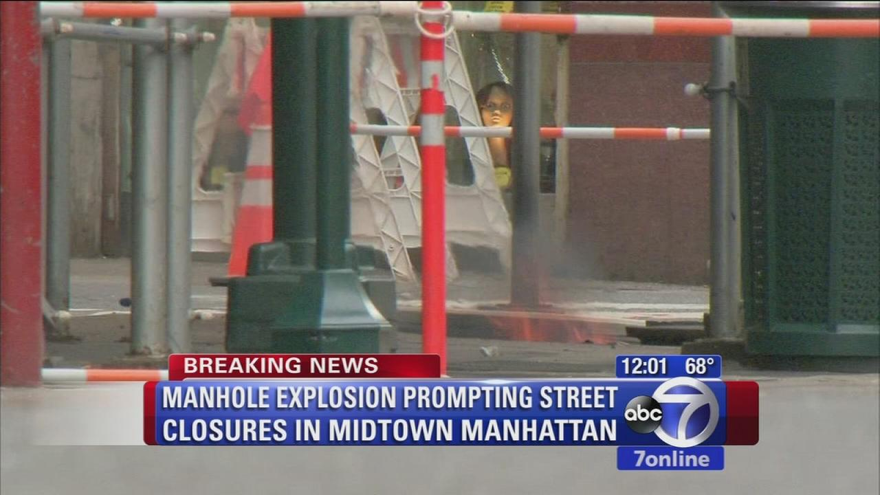Fiery manholes shut down streets