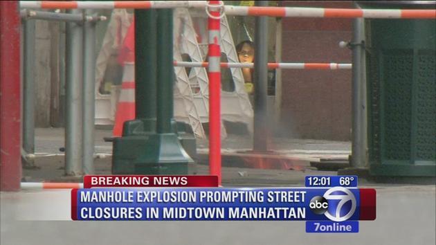 Fiery manholes shut down streets