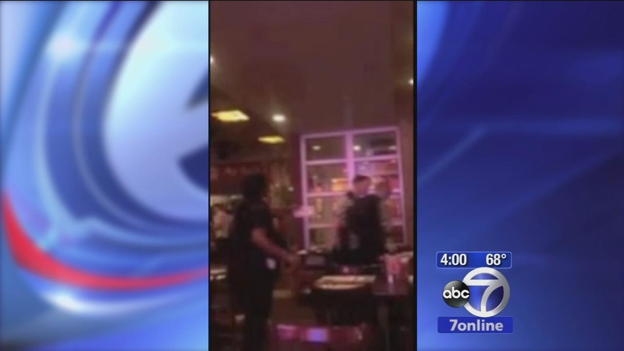 Video shows restaurant brawl