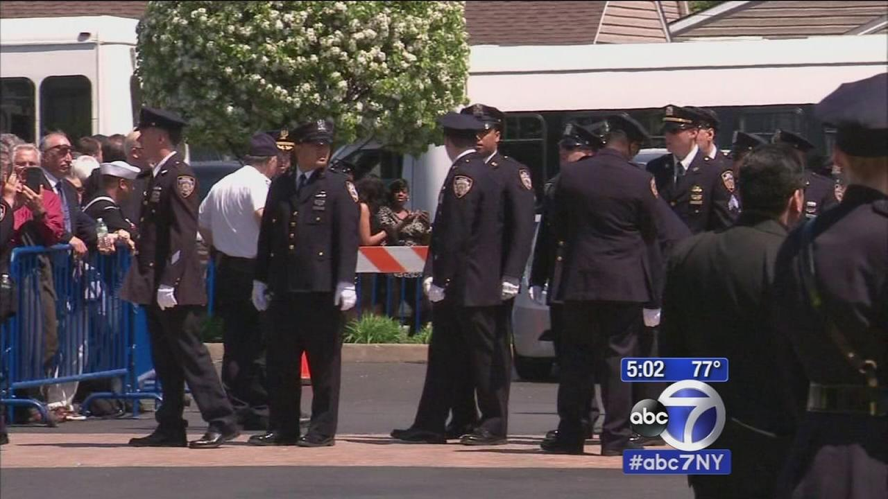 Wake held for slain NYPD officer