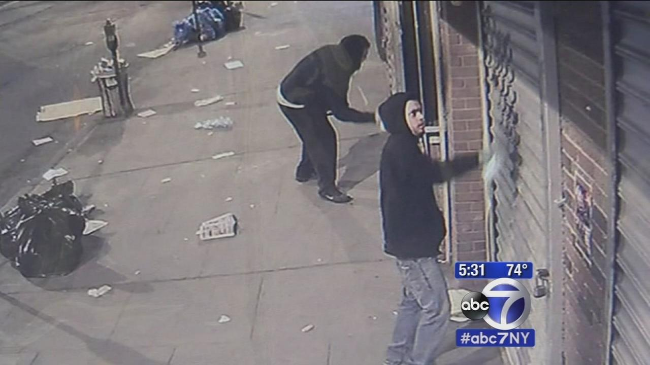Vandals deface Jersey City businesses